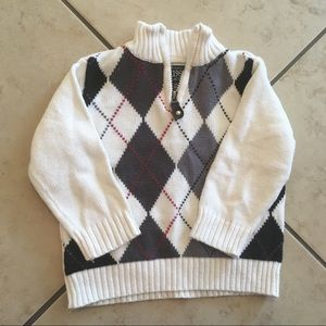 Boys plaid pullover sweater
